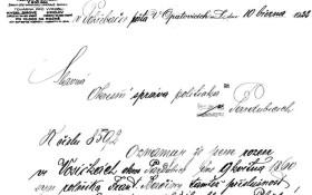 Dobový dokumet s kresbou toárny v záhlaví firemního dopisu.
